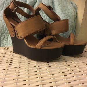 Calvin Klein Platform Wedge Sandals 8.5M-New